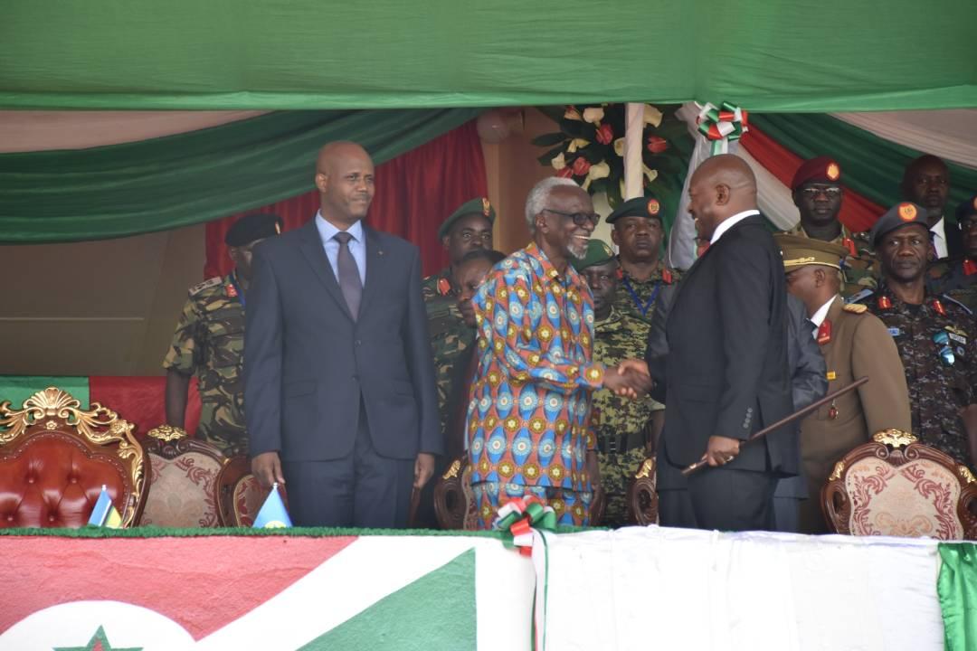 President Nkurunziza, Uganda's Minister of EA Affairs, Kivejinja and EAC Secretary General Mfumkeko.