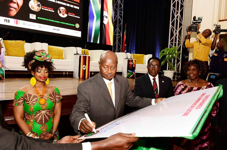 President Museveni launches Nelson Mandela Annual Commemorative Lecture at Makerere University