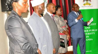 Committee Chairperson Precious Ngabirano (extreme right) and other members of the newly instituted disciplinary committee