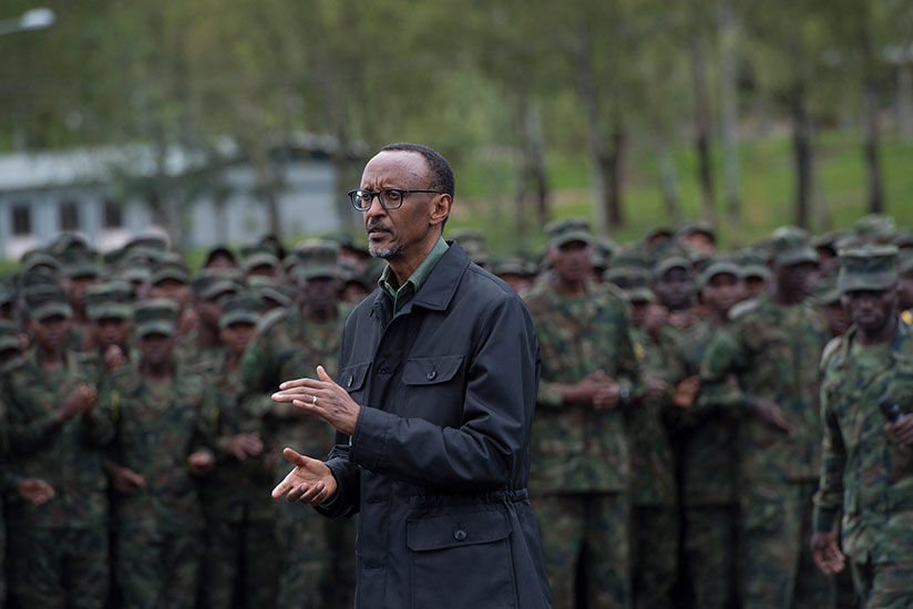 President Paul Ka Speaks To Members Of The Rwanda Defense Forces In 2016 After A Combined Arms Fire Exercise