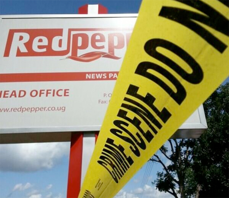 The Red Pepper Publications Headquarters In Namanve Have Been Closed For Two Months