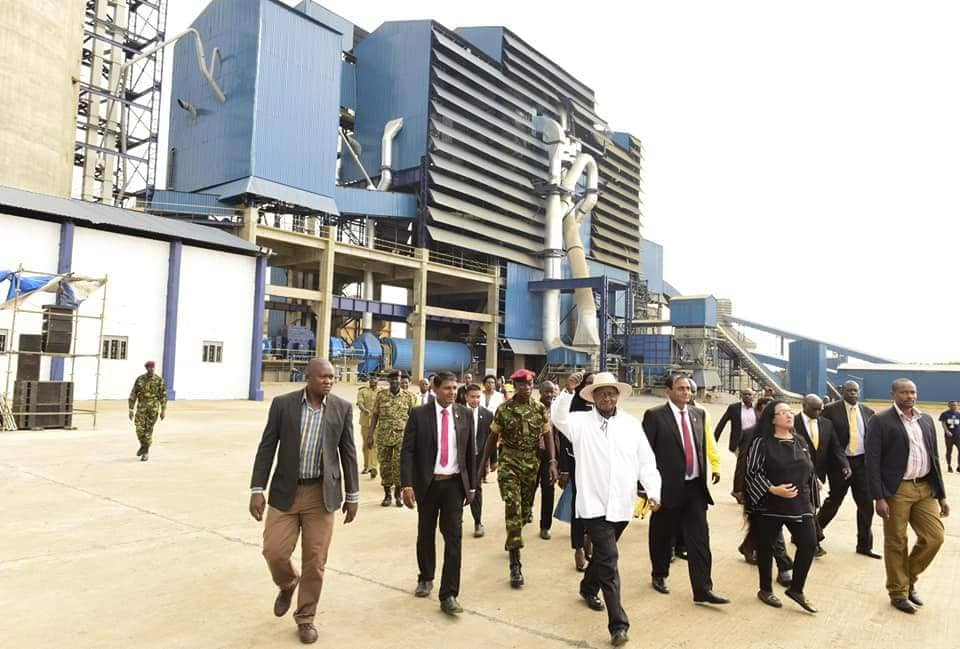 Museveni Opens Simba Cement Factory in Tororo, Urges Youth to be