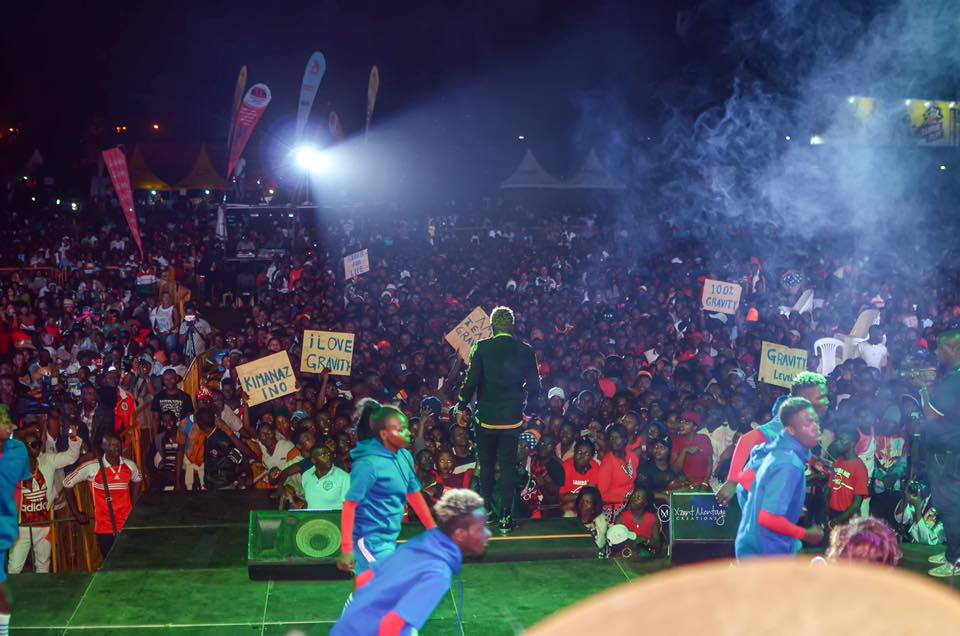 Gravity's 'Embuzi Zakutudde' Concert Fills Cricket Oval, Bebe Cool