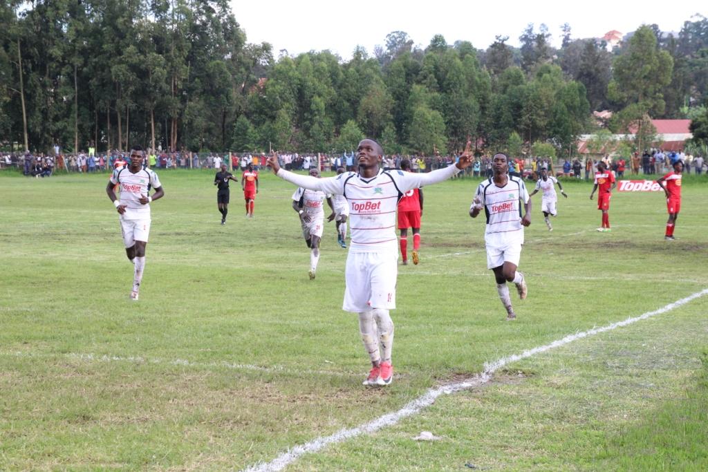 e42452e0bb14 Mucurezi celebrating Mbarara FC s only goal against BUL FC at Kakyeka  stadium.