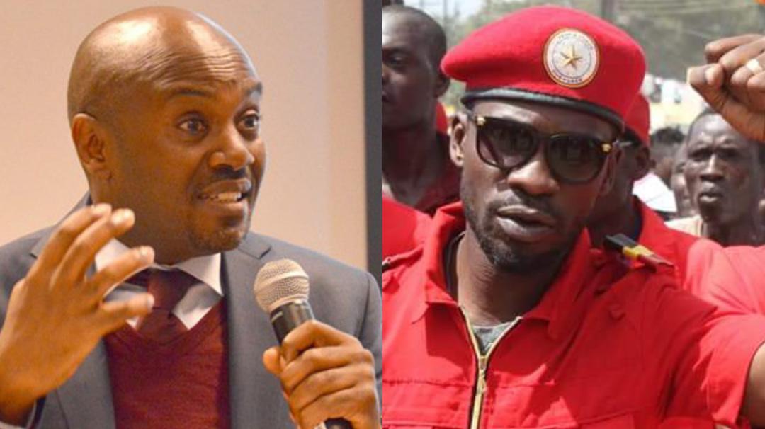 Andrew Mwenda L And Opposition Politician Bobi Wine R