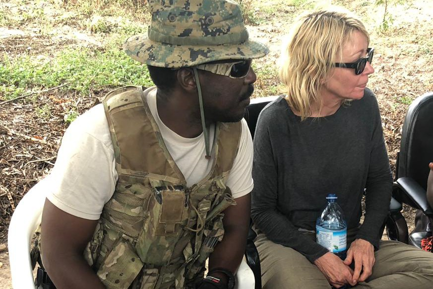 American grandmother begins her journey home after being freed by Ugandan kidnappers
