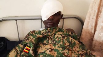 Soldier who lost eye when he was pelted with stones while enforcing curfew